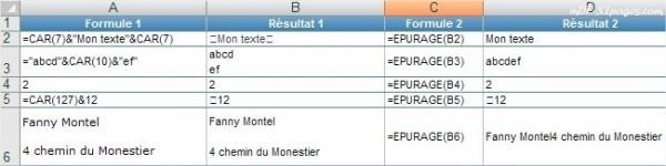 Excel EPURAGE()