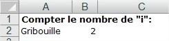 Excel Compter le nombre de lettres dans une cellule