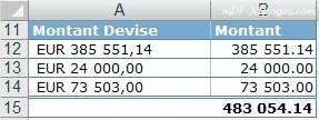 Excel Extraire des chiffres d'une cellule de texte