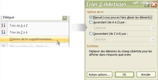 Excel Options Tri d'un TCD