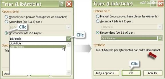 Excel Trier un TCD
