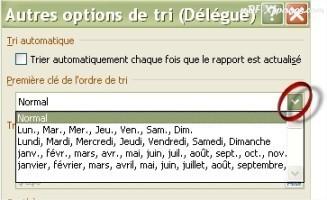Excel Options de tri d'un TCD