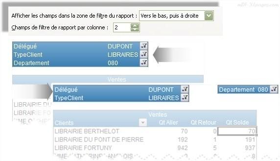 Excel Mise   en forme du filtre de rapport d'un TCD
