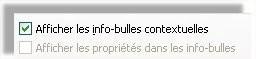 Excel Option Afficher les info-bulles contextuelles