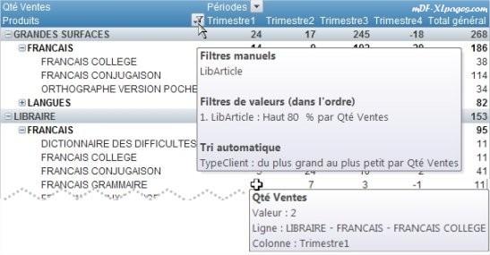 Excel TCD Option Afficher les info-bulles contextuelles