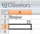 Première saisie dans Excel