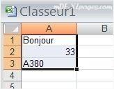 Excel Sélectionner plusieurs cellules