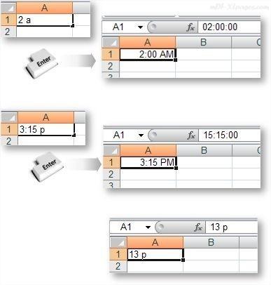 Excel Saisir des heures