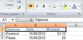 Excel Modifier la couleur de la police