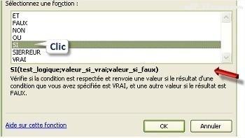 Excel Sélectionner une fonction
