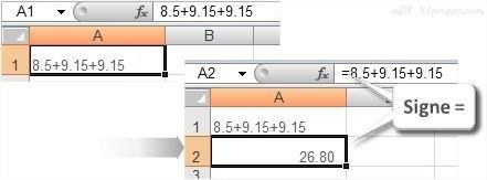 Excel Ma première formule