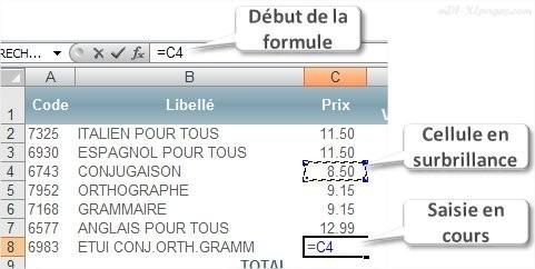 Excel première formule