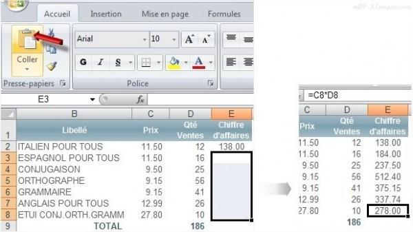Excel Copier une formule