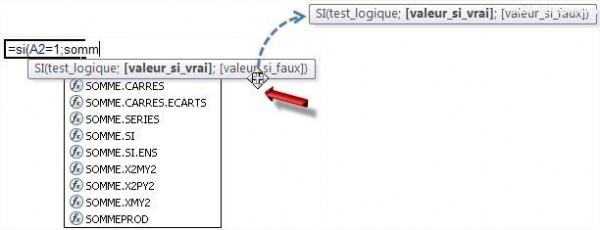 Excel déplacer l'info-bulle d'aide