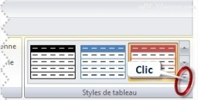 Excel Styles de Tableaux