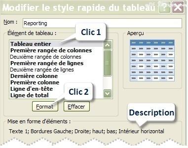 Excel Modifier un Style de Tableau