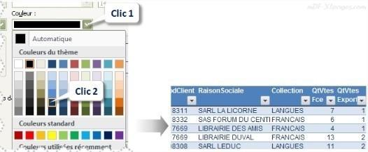Excel Modifier le style de police d'un Tableau