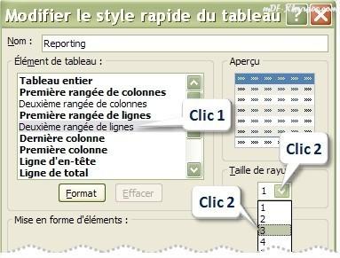 Tableau Excel Alterner les couleurs une ligne sur deux, trois, quatre, etc.