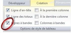 Excel Alterner les couleurs des lignes
