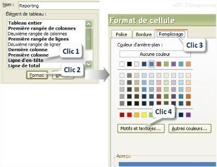Excel Mettre en forme l'en-tête d'un Tableau