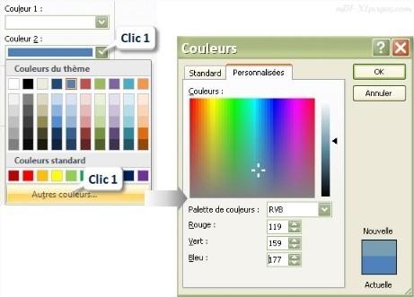 Excel Palette de couleurs