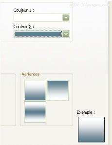 Excel Aperçu dégradé de couleurs