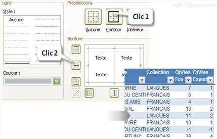 Excel Metre en forme les bordures d'un Tableau