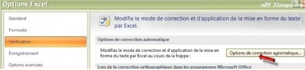 Options de correction automatique