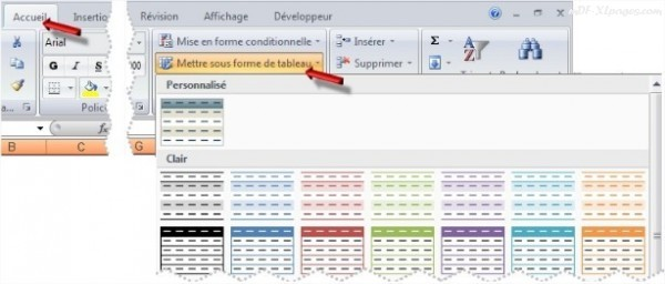 Excel Colorer une ligne sur deux
