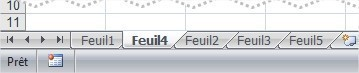 Excel Déplacer une feuille