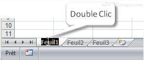 Excel modifier nom d'un onglet
