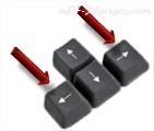 Touches droites et gauche du clavier