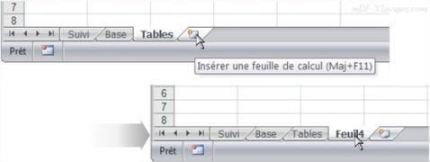 Excel Insérer une nouvelle feuille