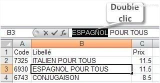 Excel Double clic