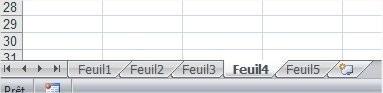 Excel Supprimer une feuille