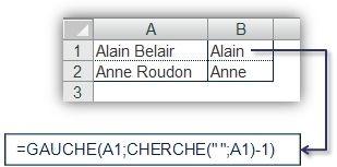 Fonctions CHERCHE() et TROUVE() 1