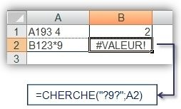 Fonctions CHERCHE() et TROUVE() 2
