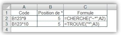 Fonctions CHERCHE() et TROUVE() 3