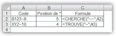 Fonctions CHERCHE() et TROUVE() 4