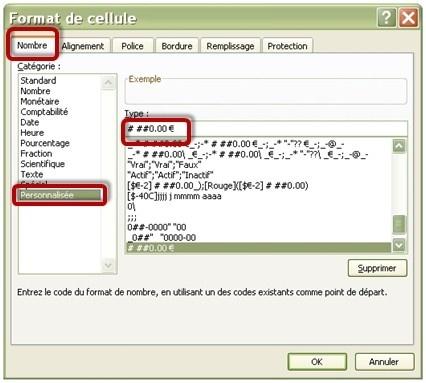 Fonction TEXTE() 2 - Format Cellule