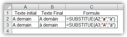 Fonction SUBSTITUE() 1