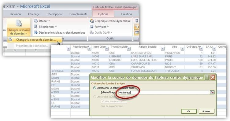 Excel Source du Tableau Croisé Dynamique