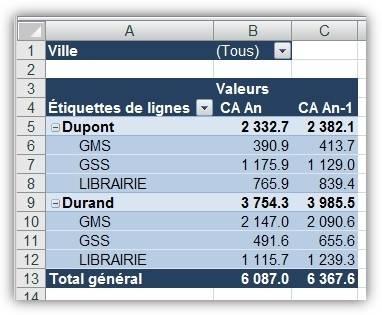 Mon premier TCD avec Excel 2007